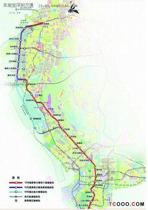 深圳地铁10号线线路图 深圳地铁十号线线路图图片