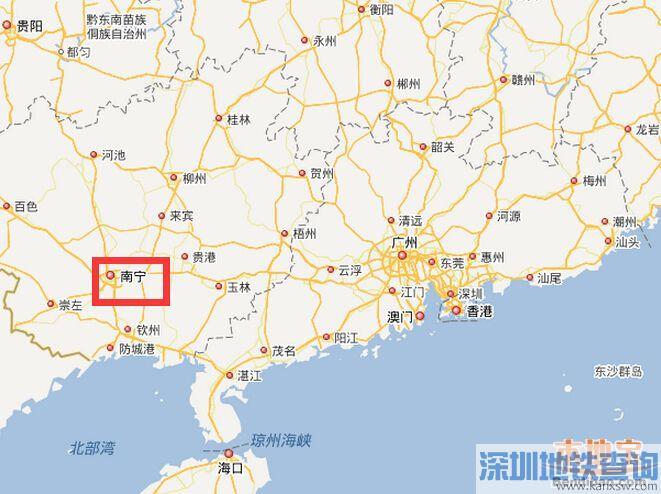 深圳到南宁高铁指南 途径车站票价时刻表全知道