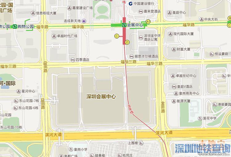 深圳第17届高交会地铁公交出行指引(地图)