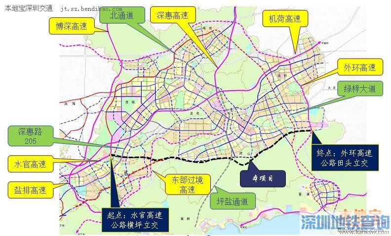 深圳南坪快速路3期已经开工 预计2018年6月建成通车