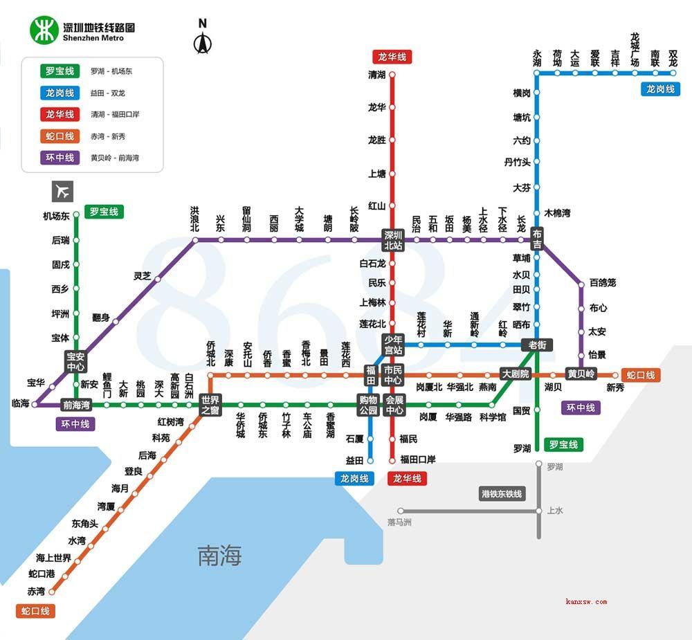 最新深圳地铁规划线路图 深圳轨道交通线路图2030