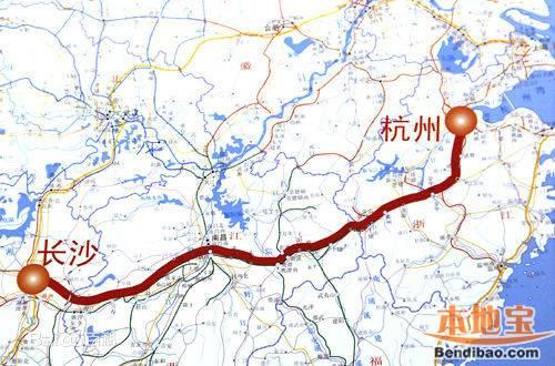 杭长高铁线路图 杭州至长沙高铁站点介绍图片