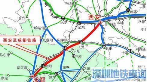 西成高铁远期规划 西安 成都高铁第一条穿越秦岭的高铁图片 39665 489x274
