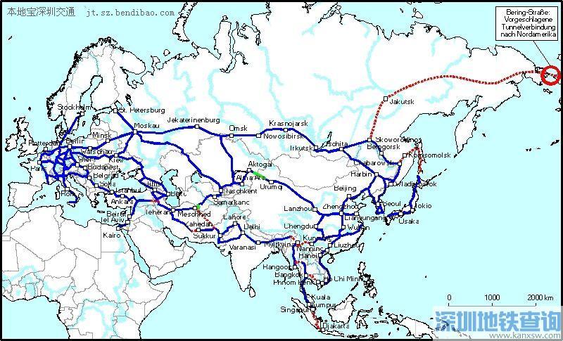中国高铁全球畅想图 一张火车票环游世界