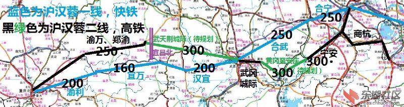 沪汉蓉高铁与 沿江高铁对比线路图如下:    沪汉蓉高速铁路(上海-武汉