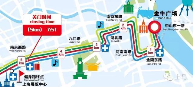 2016上海马拉松线路图开跑时间 上海国际马拉松赛事路线图起点终点图片