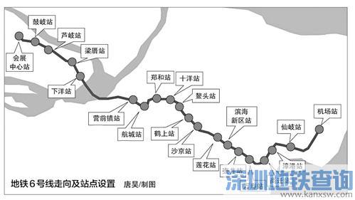 福州地铁6号线拟12月底动建 计划2021年3月竣工