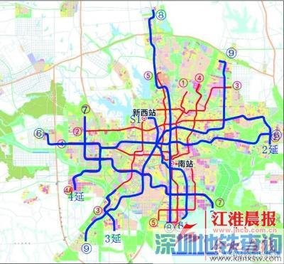 合肥2、3、4号线或延长 肥东肥西将通地铁