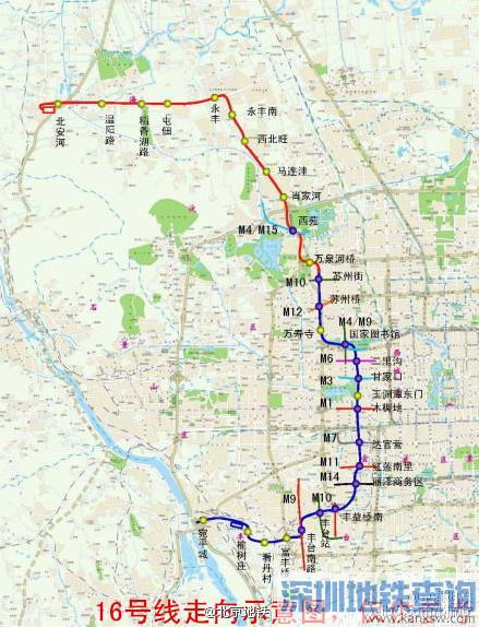 北京地铁16号线北段将同步设两座P+R停车场 试运营时间预计12月