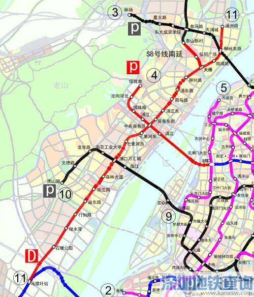 南京地铁11号线一期线路图