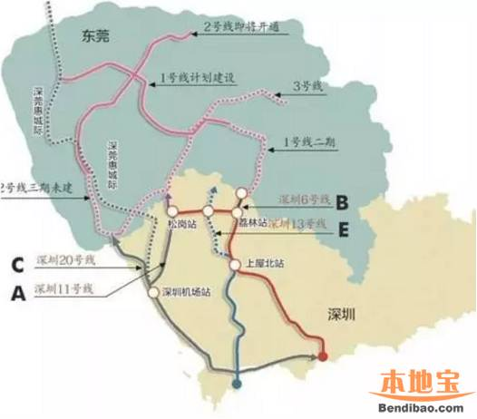 深圳地铁13号线线路图 深圳地铁十三号线线路图图片