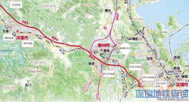 赣深高铁发改委正式批复 获批文件发布共设车站14个 含预留车站2个图片