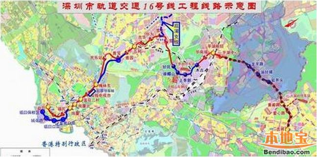 深圳地铁16号线线路图 深圳地铁十六号线线路图