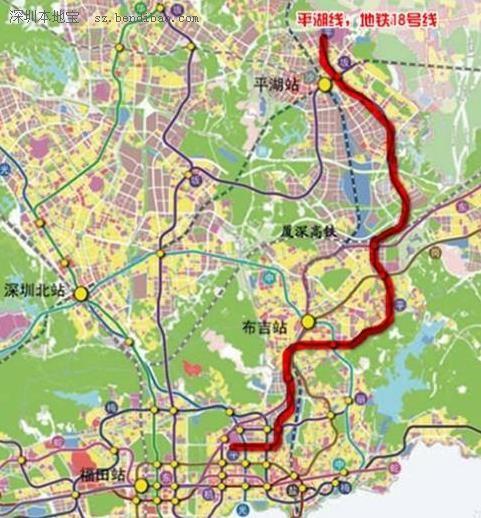 深圳地铁18号线线路图 深圳地铁十八号线线路图图片