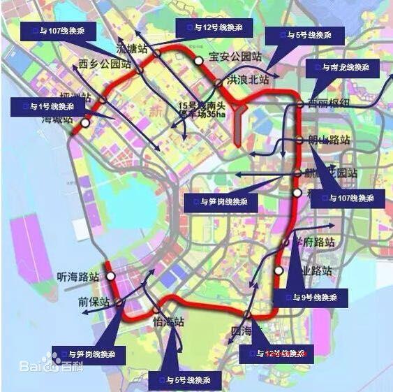 深圳地铁15号线线路图 深圳地铁十五号线线路图图片