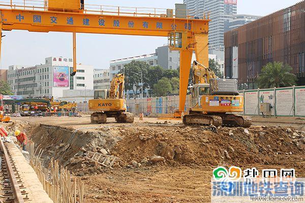 深圳地铁8号线海山站 进入主体结构施工阶段