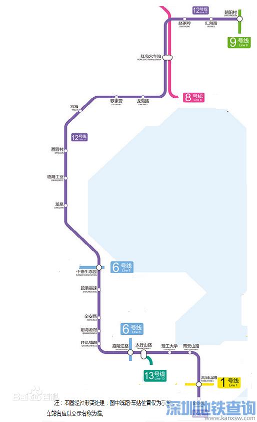 青岛地铁12号线最新规划线路图