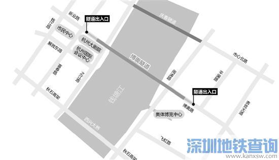 杭州又多一条过江隧道 从钱江新城到奥体博览城只要3分钟