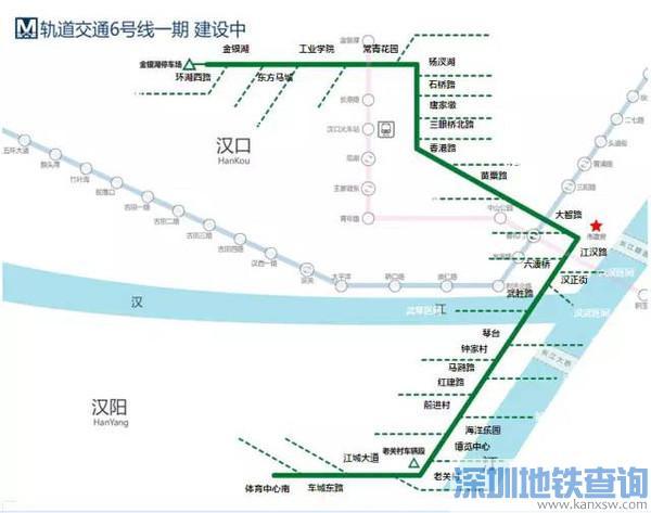 武汉地铁6号线延长线到哪里?武汉地铁六号线延长线走向、站点设置情况