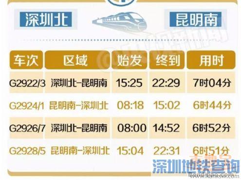 高铁票价查询_深圳到昆明最新高铁车次、票价、时刻表一览 - 地铁查询网