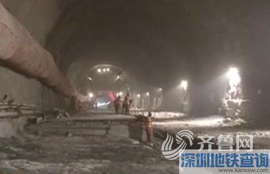 航拍济青高铁 青阳隧道明年6月底贯通