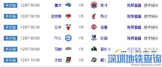 2016年12月7日NBA赛程安排一览表 2016-2017nba赛程表