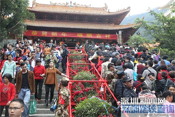 仙湖植物园部分路段塌方 弘法寺2017新年撞钟祈福活动取消