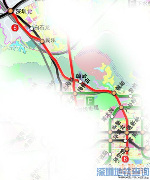 深圳地铁6号线二期线路图