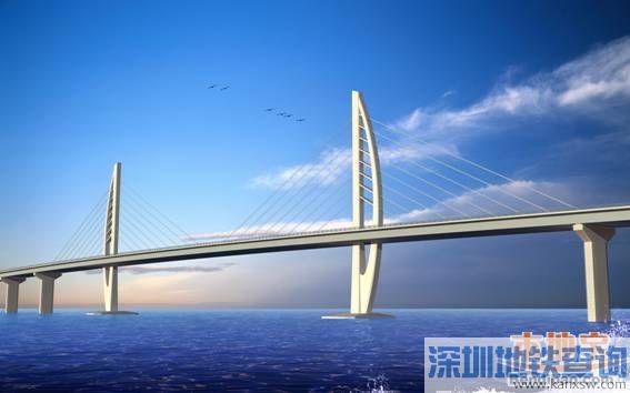 港珠澳大桥非通航孔桥箱全线完工 规划线路图 预计2017年年底通车