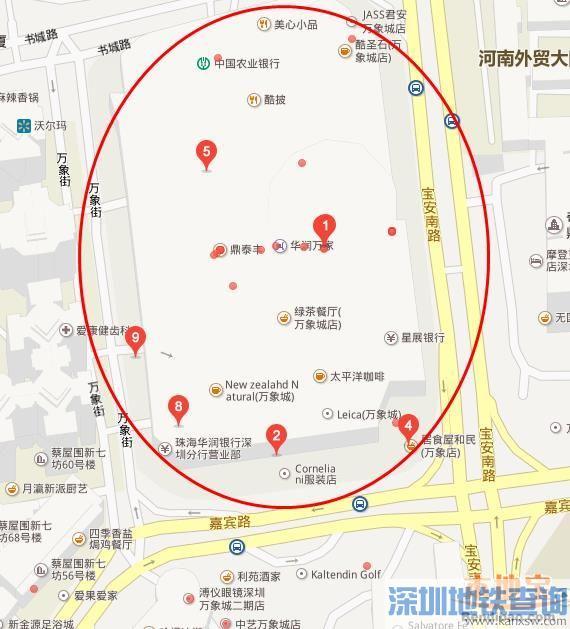 深圳罗湖区购各大购物中心地址