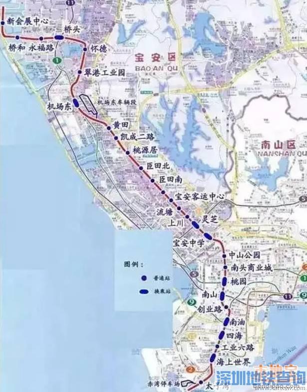 深圳地铁12号线最新规划线路图 站点介绍图片