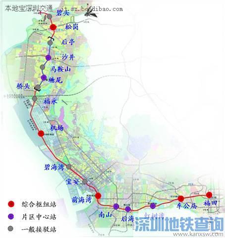 深圳地铁2016最新线路图 将有6条地铁了图片