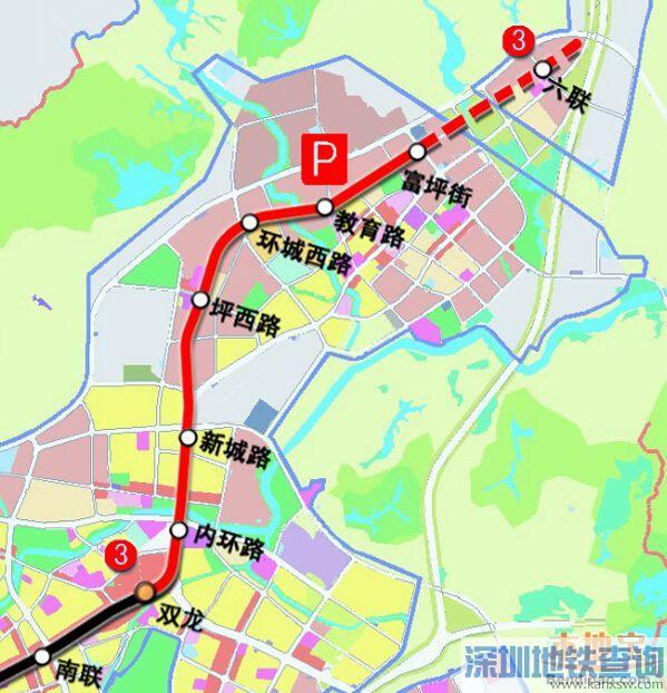 深圳地铁3号线南延线站点    只设福保站