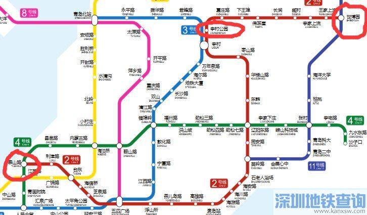青岛地铁2号线延长线预计规划线路图(站点设置,走向)