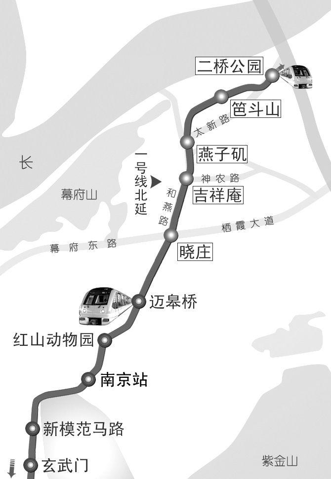 南京地铁1号线北延线最新消息 5个站点确定都有哪些?