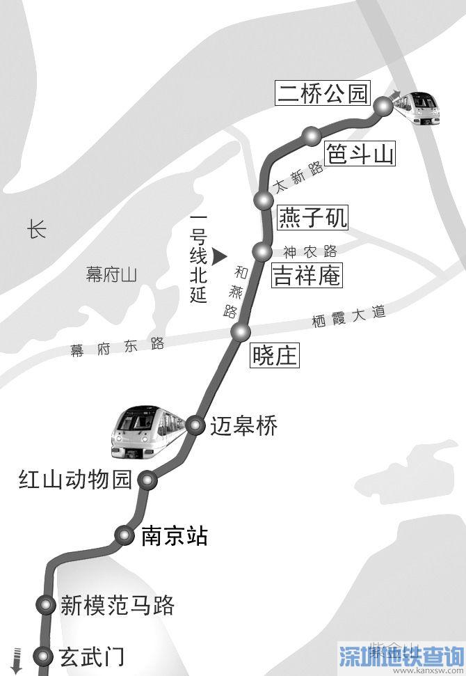 南京地铁1号线北延怎么走