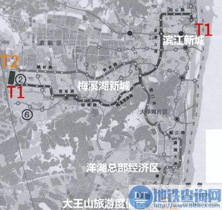 长沙有轨电车T2线线路规划图