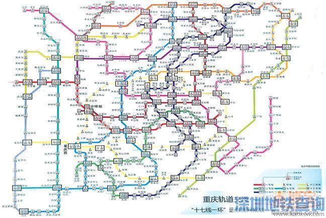 点击可查看重庆轻轨十七线一环线路图-重庆轻轨地铁12号线站点介绍 图片