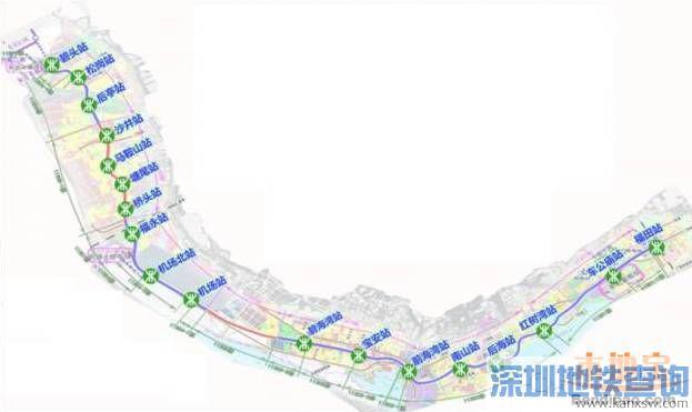 深圳地铁11号线线路图高清