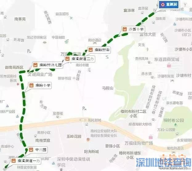 龙岗微循环巴士开通 分别为B881路B882路
