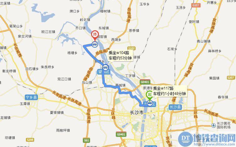 长沙汽车北站到靖港古镇怎么走