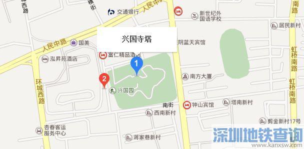 江阴市兴国寺塔地图
