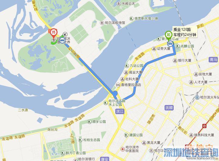 防洪纪念塔到冰雪大世界有多远要多久?公交、地铁、自驾怎么走