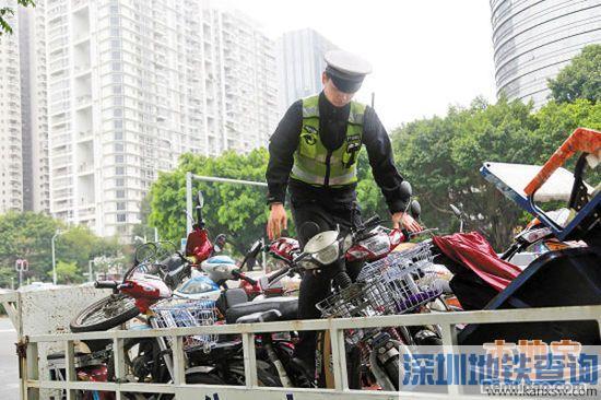 深圳交警二维码管理特种电动车  快递哥考试合格方可上路