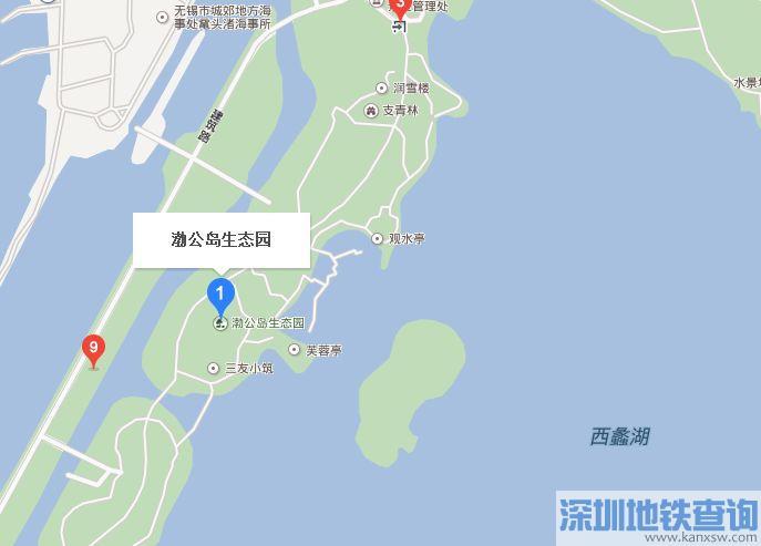 无锡渤公岛生态园地图