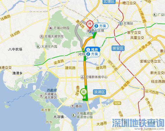 无锡滨湖区到惠山古镇怎么走