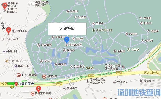 无锡梅园地图