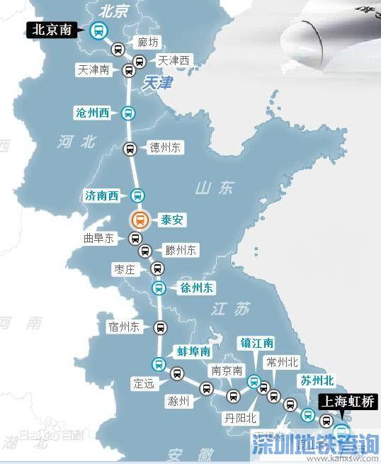 京沪高铁二线规划图