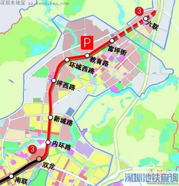 地铁3号线东延段本月开工 共设站点7座(路线图)