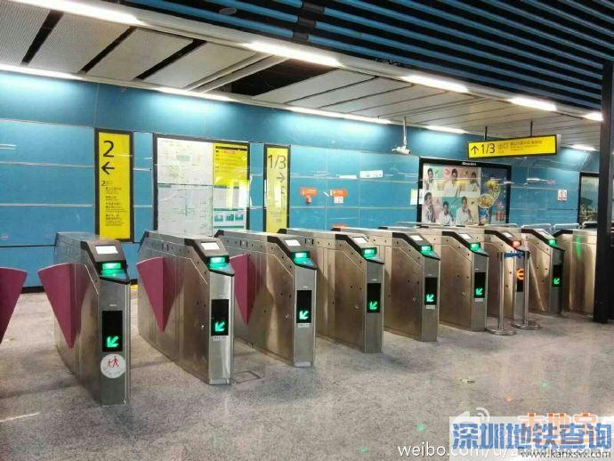重庆地铁轻轨6号线光电园站新增12台闸机  来看看都分布在哪里